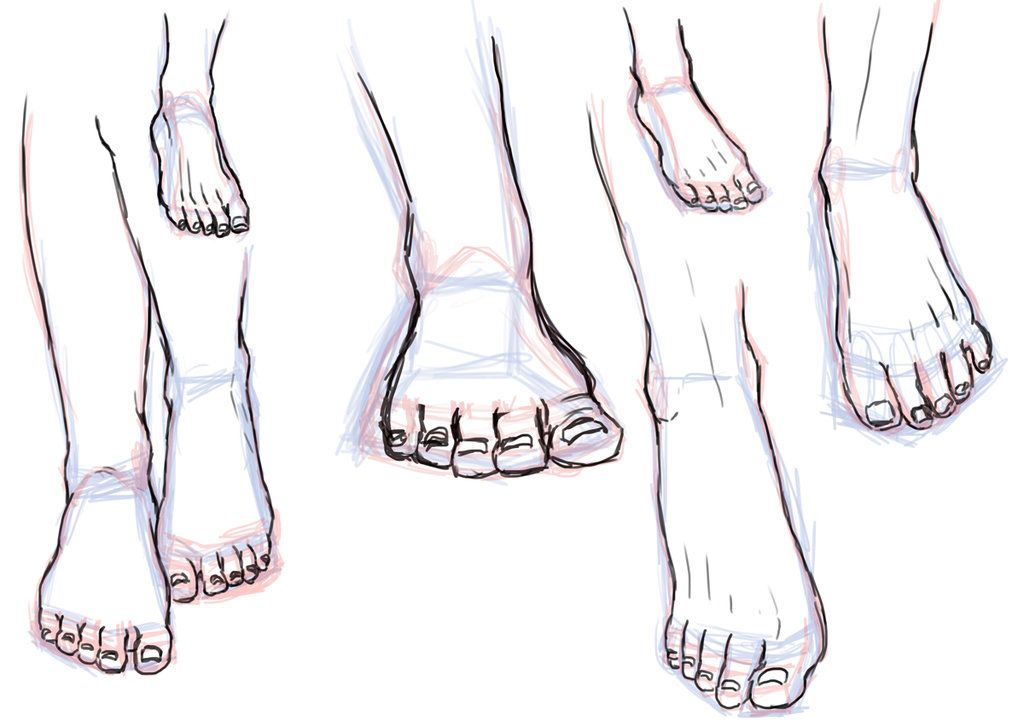 Feet Sketch 3 Front View By Pandora Gold D6ysn8u Jpg 1024 727 Feet Drawing Figure Drawing Reference Drawings