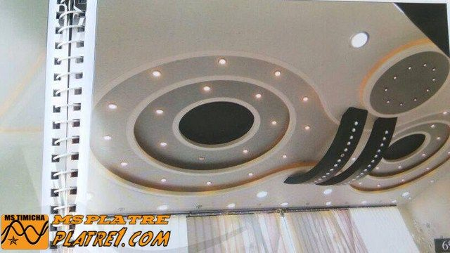 Plafond en platre moderne salon plafond moderne pinterest for Decoration de platre moderne