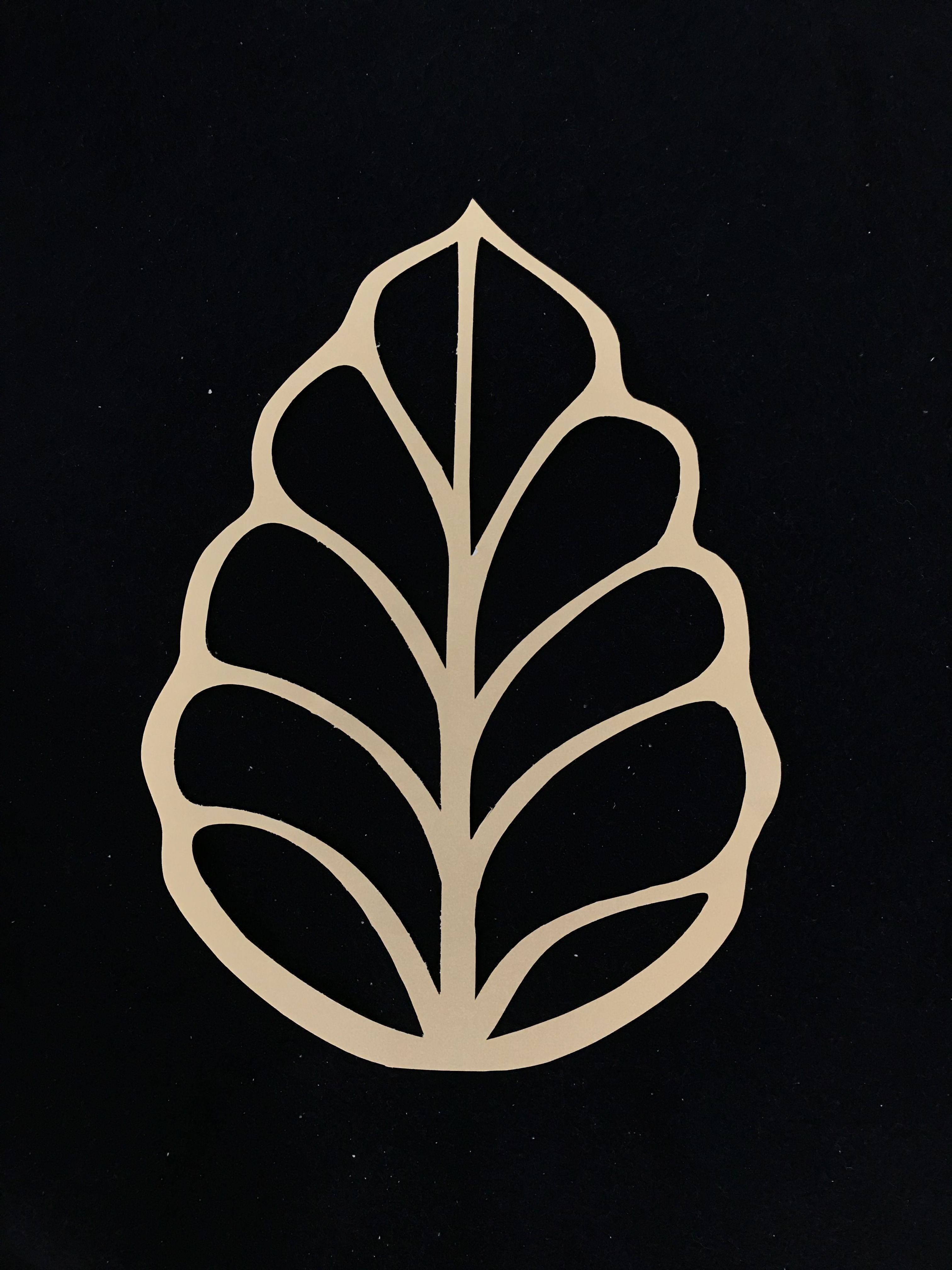 Laser Cut Wood Shape LEF11 Leaf