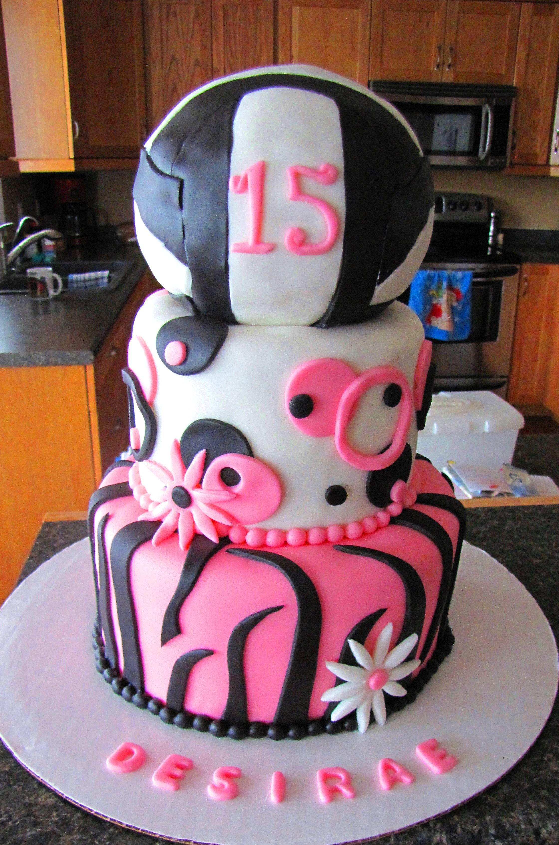 Volleyball Cake Volleyball Cakes Volleyball Birthday Cakes Cake