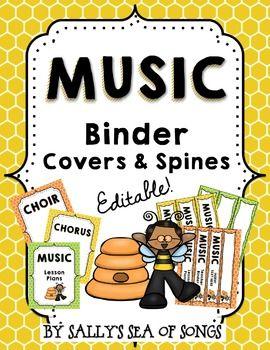 Music Teacher Binder Covers & Spines - Busy Bee Kids | Teacher ...