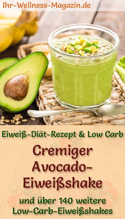 Avocado-Eiweißshake - Low-Carb-Eiweiß-Diät-Rezept #protiendiet