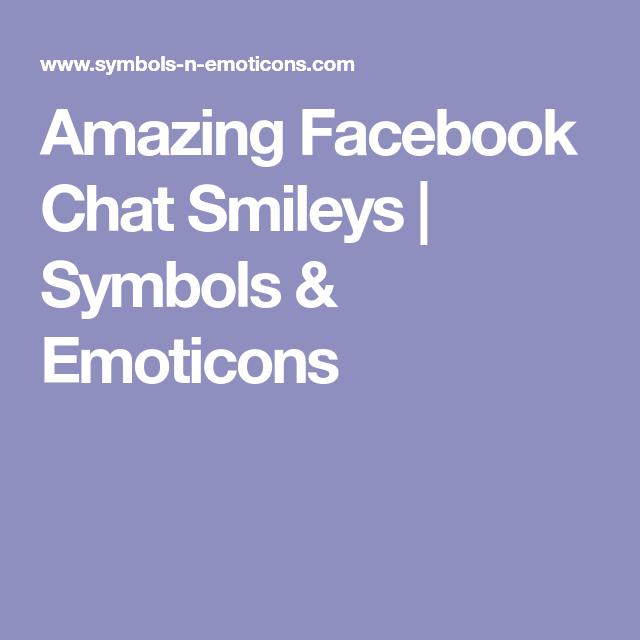 Amazing Facebook Chat Smileys Symbols Emoticons Smiley Faces