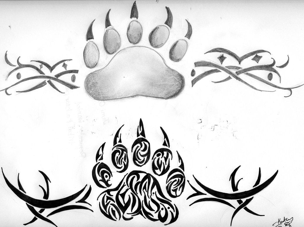 Bear Paws By Kelseysparrow67 On Deviantart Bear Paw Tattoos Tribal Tattoos Native American Bear Tattoos