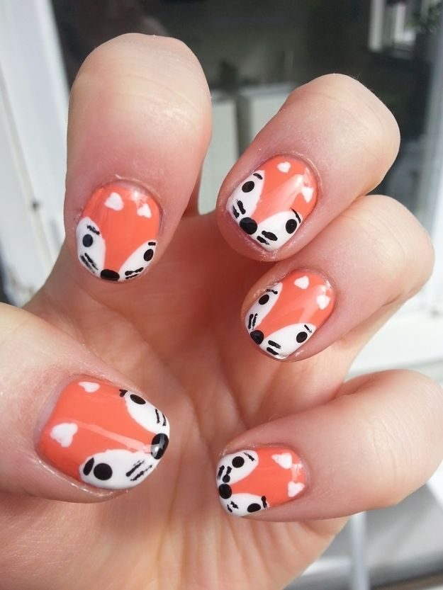 Foxes | Pinterest | Animal nail art, Animal and Kid nails