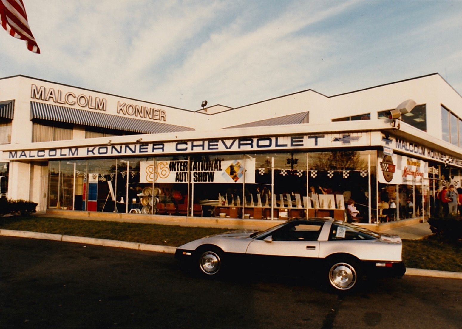 Malcolm Konner Commemorative Edition 1986 Corvette Chevrolet Malcolm