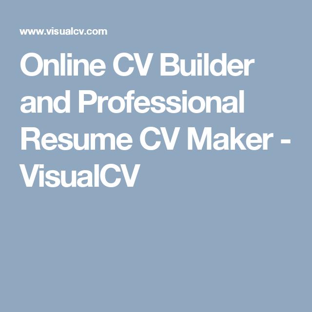 online cv builder and professional resume cv maker visualcv