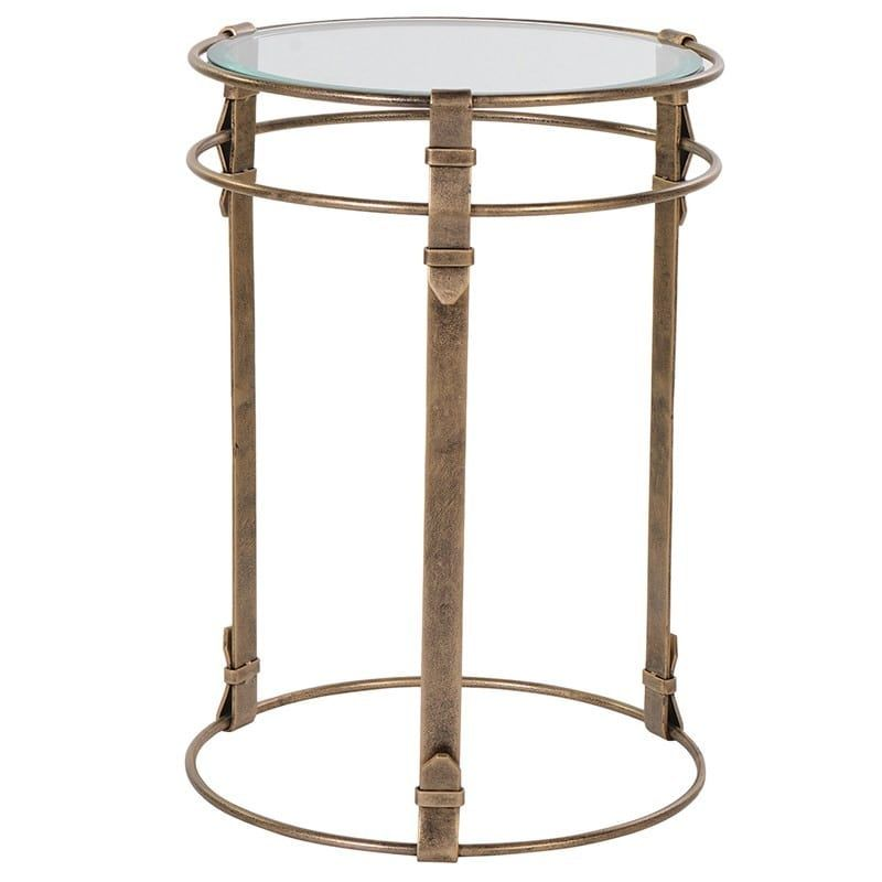 Small Dark Gold Side Table is part of Home Accessories Styling Side Tables - Small Dark Gold Side Table