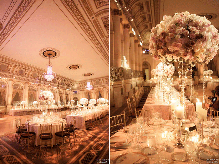 Luxury Wedding Decor Pink And Gold Reception