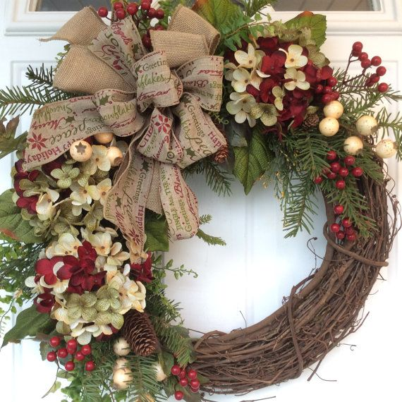 Guirnalda de navidad para la puerta invierno por for Guirnaldas para puertas navidenas