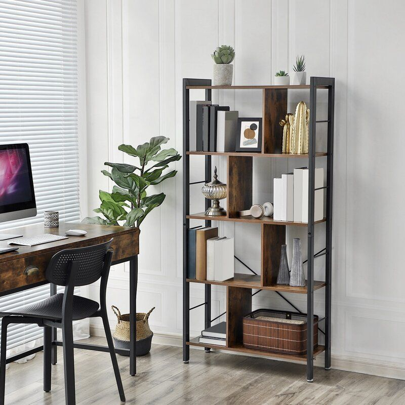 Hasting Etagere Bookcase In 2020 Industrial Bookcases Bookcase Living Room Office