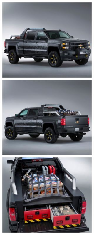 The Silverado Black Ops concept was made specially for the zombie apocalypse. Check it out! #omg #spon #zombies