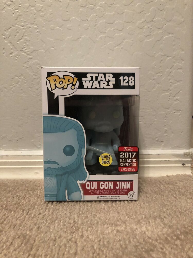 Funko Pop Qui Gon Jinn Galactic Convention Exclusive Glows In The Dark Afflink When You Click On Links To Various Merchants On T With Images Funko Pop Star Wars Galactic