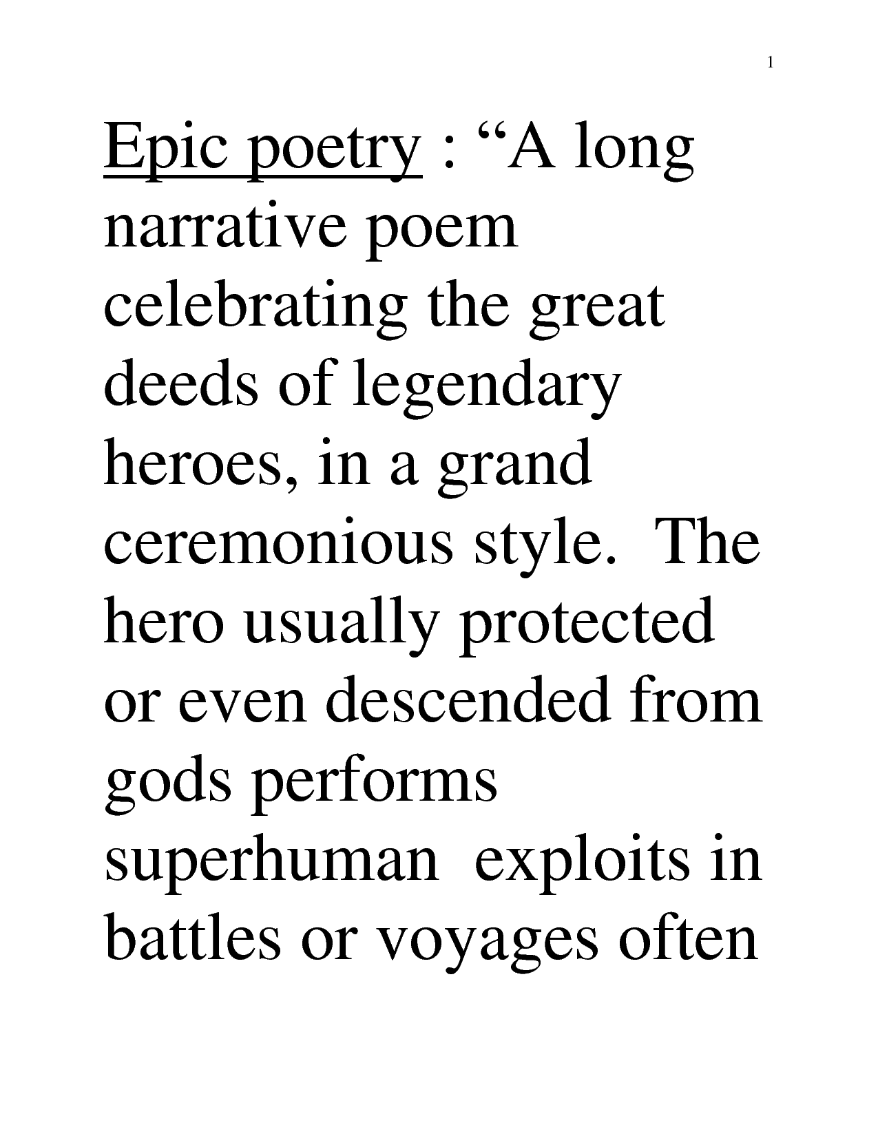 Epic Poem Definition And Example Google Search Poetry And Poetic