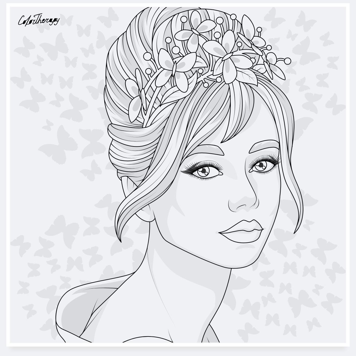 Girly Coloring Pages Free