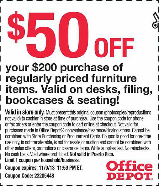 Office Depot 50 off 200 Printable Coupon Printable