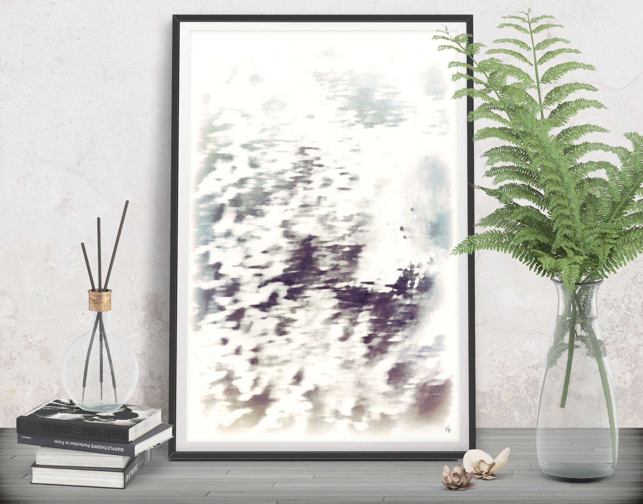 Gray modern decor printable art digital download abstract art print