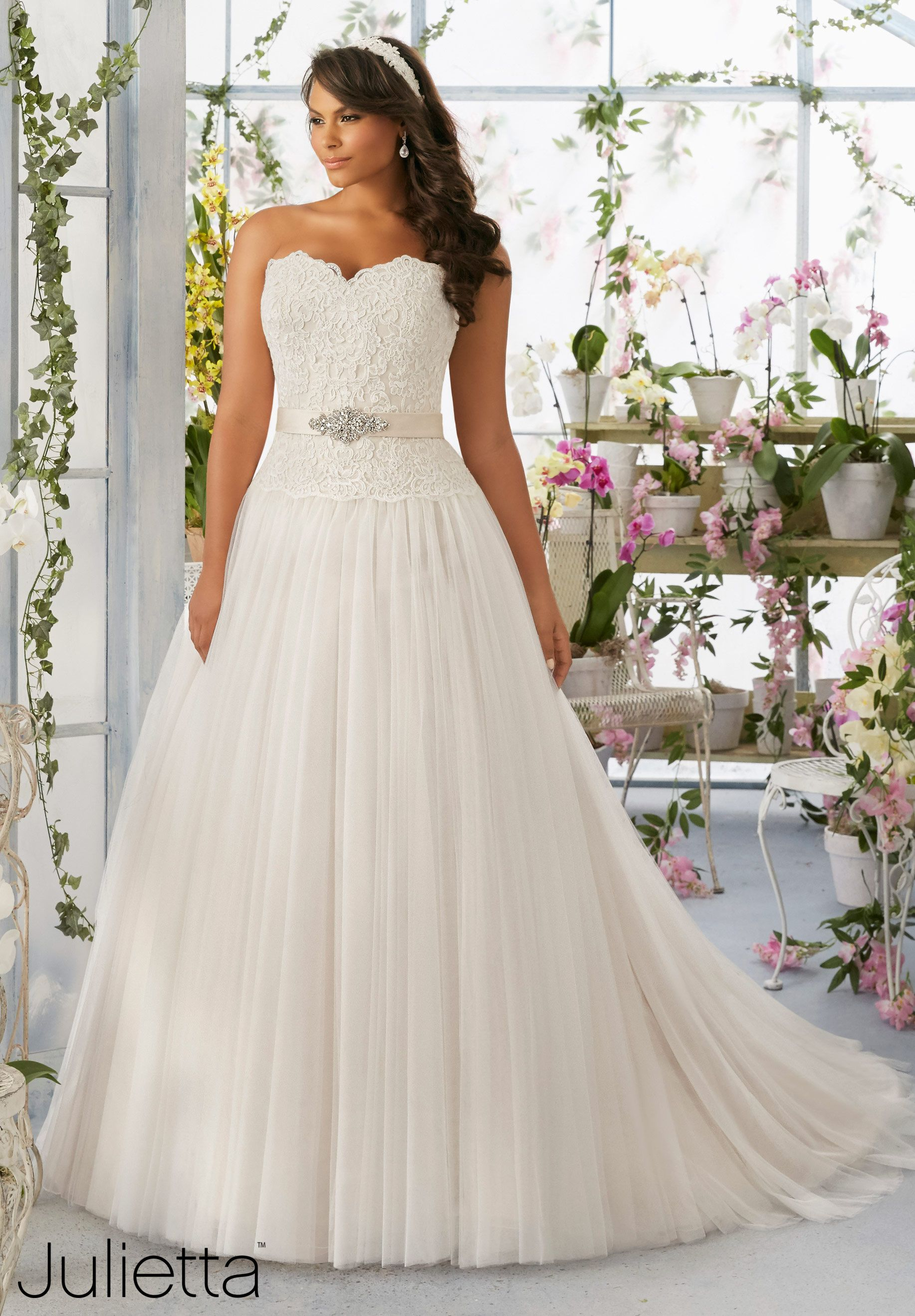 89542879e03  Plus Size Wedding Gown of the Day  New Julietta Collection by Mori Lee