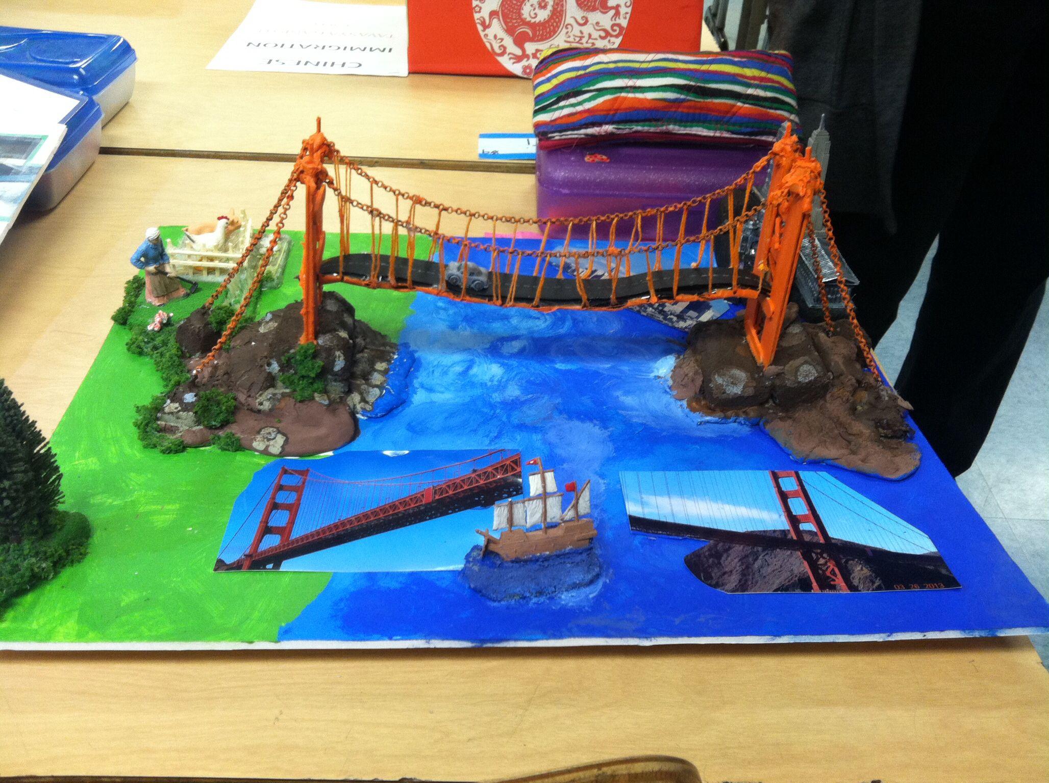 Printable coloring pages golden gate bridge - 4th Grade California Landmark Project Golden Gate Bridge