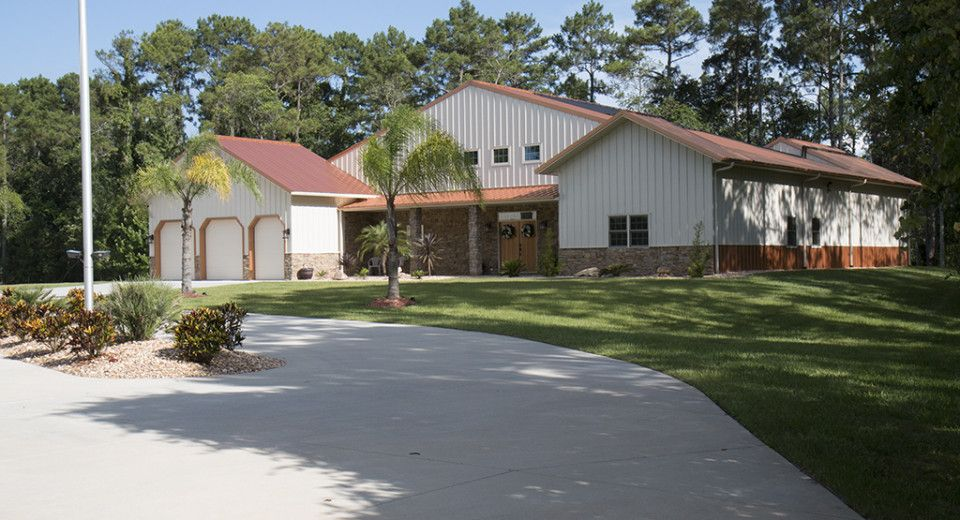 Morton Buildings Home In New Smyrna Beach Florida Metal Buildings Metal Building Homes Building A House