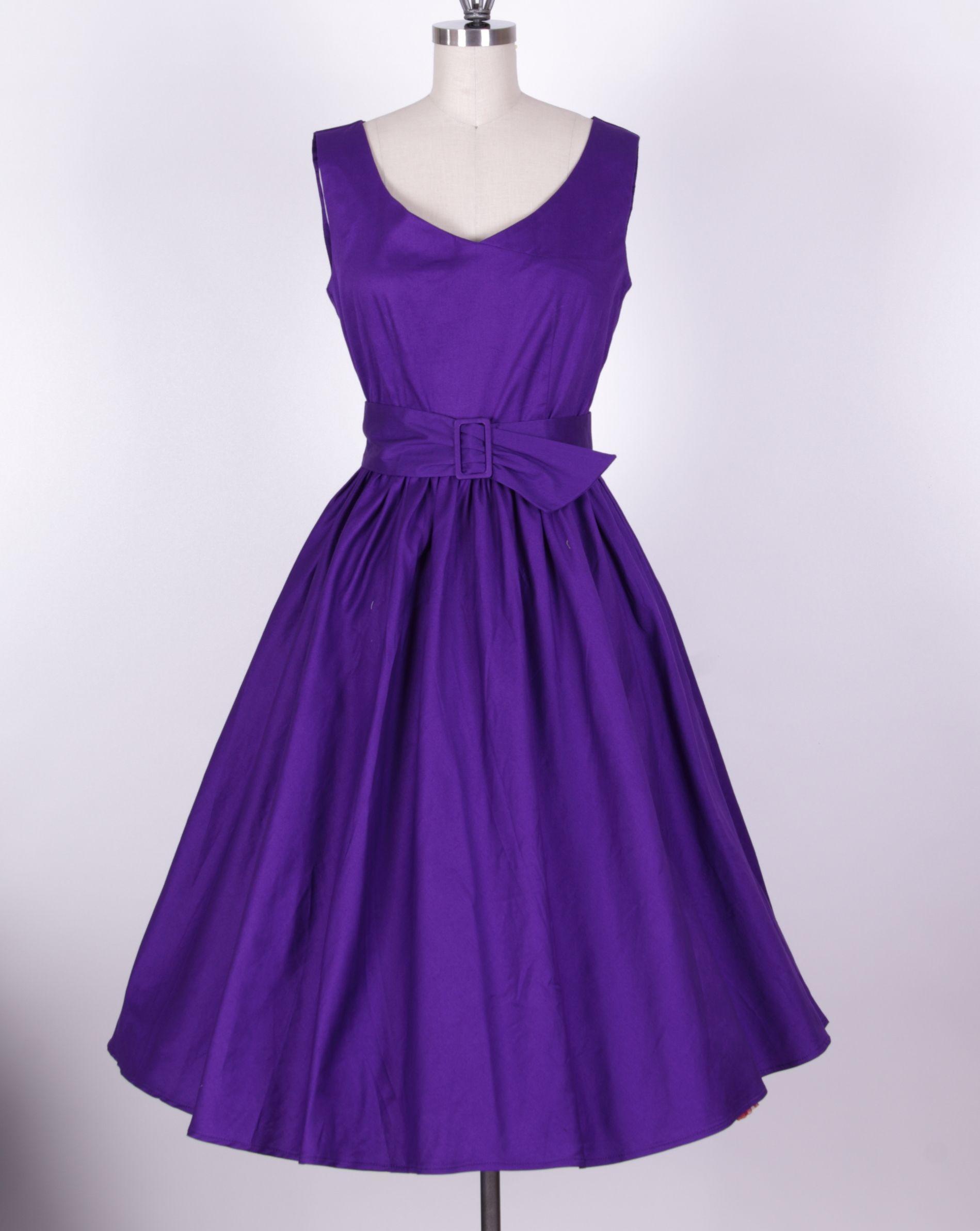 purple+bridesmaid+dresses | ... dress 8247 50s vintage black swing ...