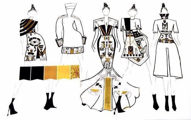 Hannah Adjei's illustrations #Artdeco