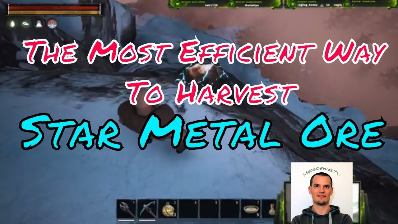 Conan Exiles Guide: How to farm Star Metal Ore in the most