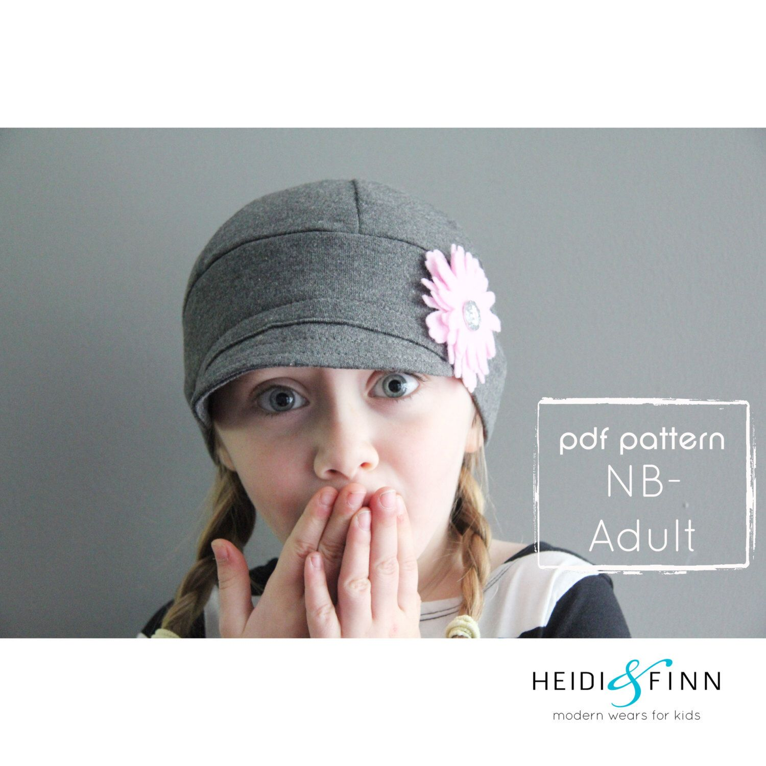 NEW SALE Downtown Hat pattern and tutorial 3m-12y easy sew PDF pattern unisex cap by heidiandfinn on Etsy https://www.etsy.com/listing/152522050/new-sale-downtown-hat-pattern-and