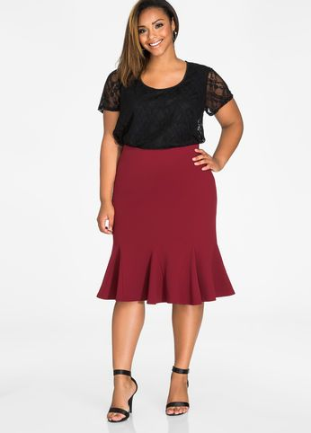 1bd70355b84 Scuba Crepe Tulip Skirt