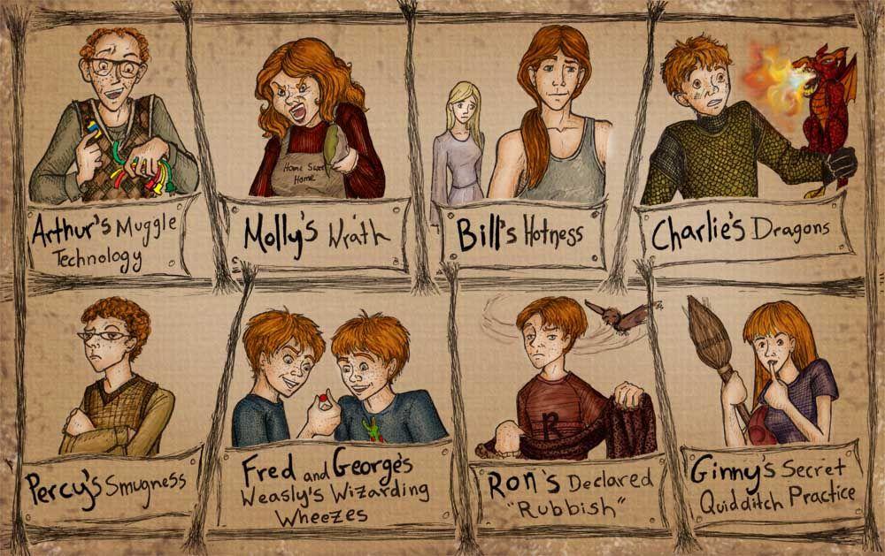 the weasley family fan art | Weasley Family lovely Big pic ...