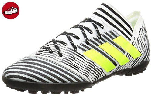 adidas Unisex-Kinder NEMEZIZ 17.4 TF Fußballschuhe, Weiß (Footwear White/Solar Yellow/Core Black), 36 2/3 EU