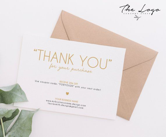 Custom Thank You Cards Business, Gold and Grey Thank You Cards, Thank you for your Purchase Printable, Thank You Card Digital, Minimalist #businessthankyoucards