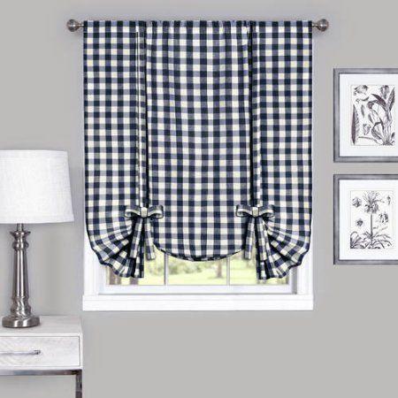 Home In 2020 Tie Up Shades Buffalo Check Curtains Tie Up Curtains
