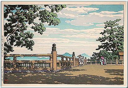 川瀬巴水 (1883-1957)  2. さぬき金比羅宮  3. 昭和23年 (1948)