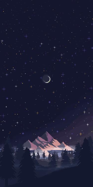 Night Skies Pixel art by Sonreir Blah || IG