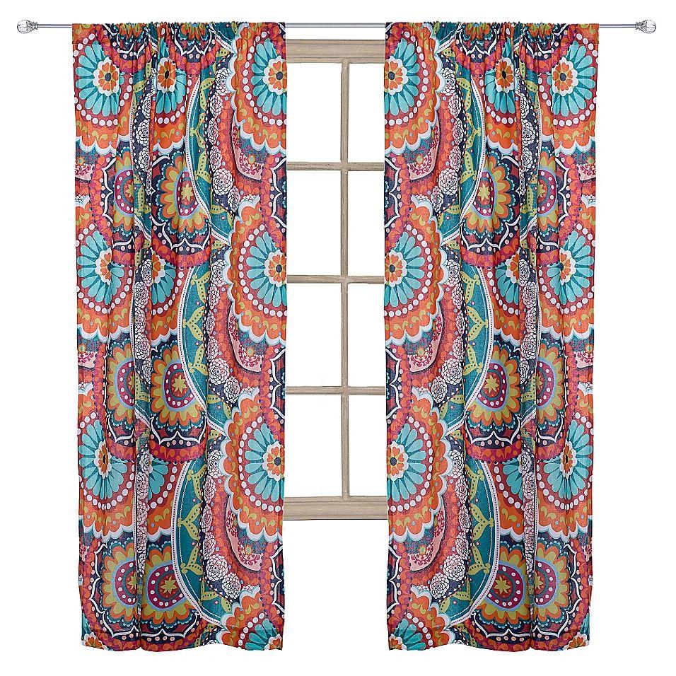 Levtex Home Serendipity 84 Window Curtain Panel Orange Panel