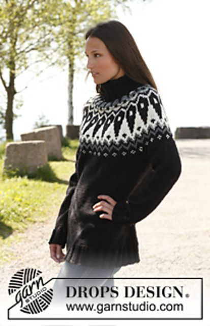 Ravelry: 140-11 Nordic Urban - Jumper with round yoke in pattern in Big Fabel by DROPS design