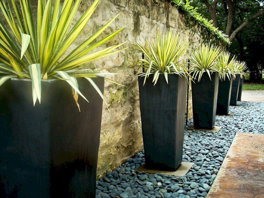 Astounding 30 Best Contemporary Outdoor Planters Design 400 x 300
