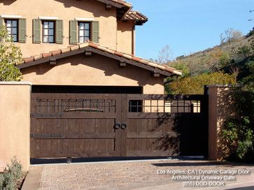Great Tuscan Style Custom Architectural Driveway Gate   Mediterranean   Exterior    Los Angeles   By Dynamic Garage Door
