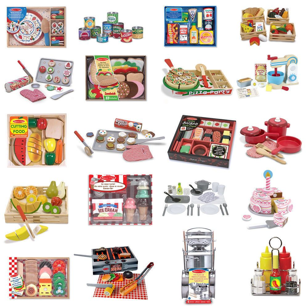 Melissa & Doug Kids Role Play Children Learning Toys - Food ...