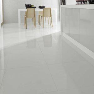Large White Quartz Floor Tiles