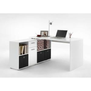ZITO Bureau angle reversible contemporain blanc L 136 cm