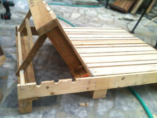 Double Pallet Lounge Chair Con