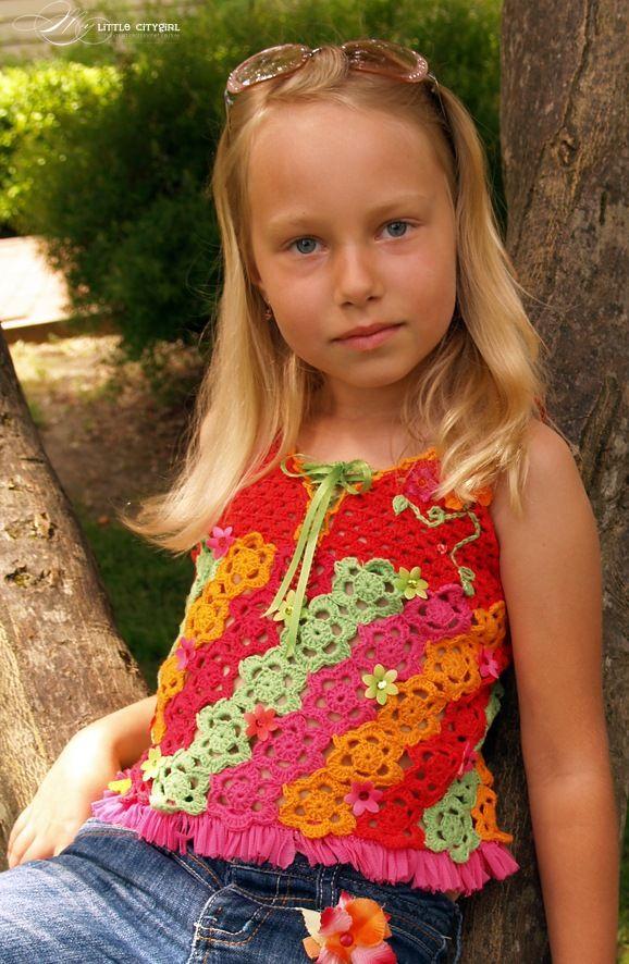 Little+Girl+Crochet+Patterns+Free | Free Crochet Top Patterns ...