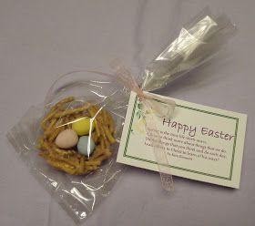 Easter nests all wrapped up make cute easter gifts check out the easter nests all wrapped up make cute easter gifts check out the original easter poem negle Images
