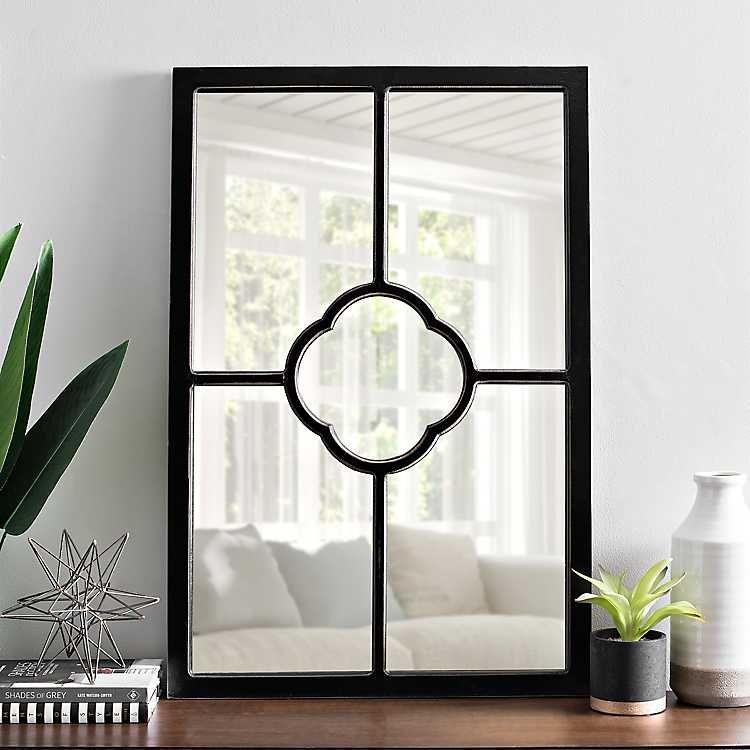 24x35 black kirklands black wall mirror wood wall