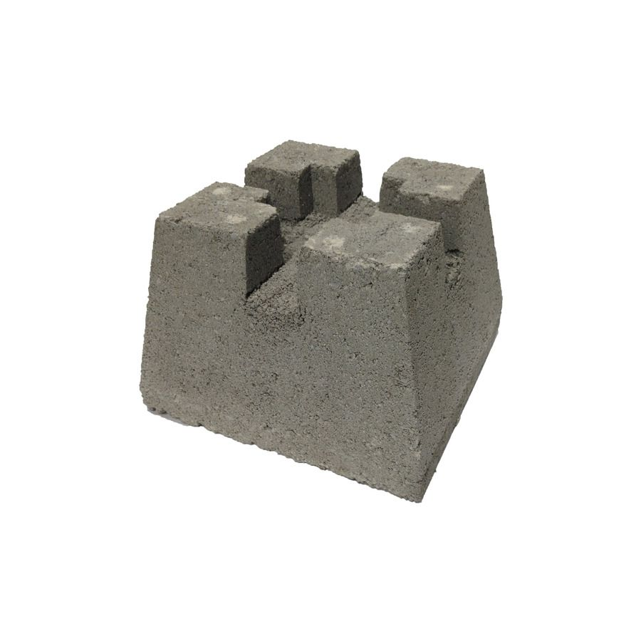 Concrete Deck Block Common 7 In X 11 In X 11 In Actual