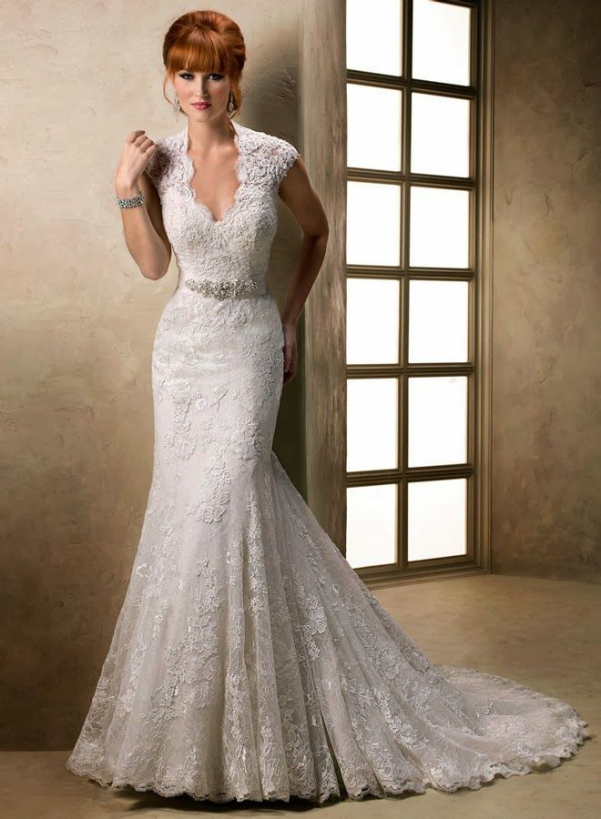 040cb763139f Mermaid Lace Cap Sleeve Wedding Dress | Dress | Wedding dresses ...