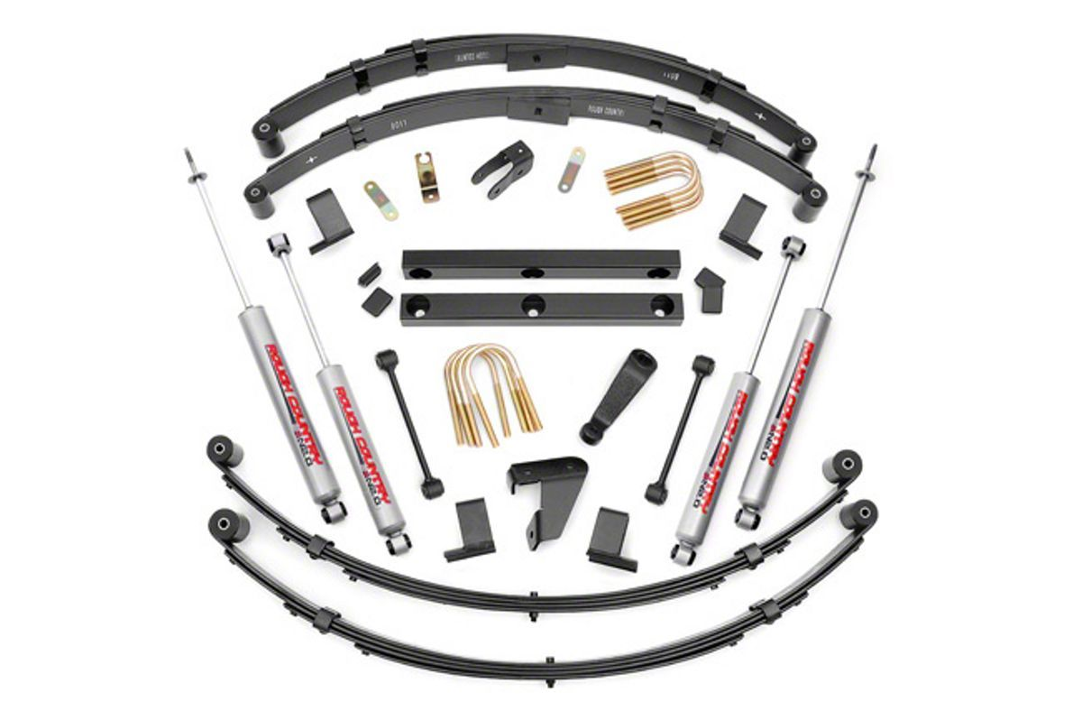 Rough Country 4 Inch Suspension Lift Kit W Shocks 87 95