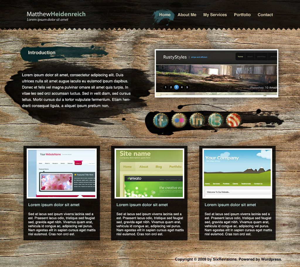 Pin by tappie on design pinterest create a wooden grunge portfolio web layout in photoshop in this beginner level web design tutorial ill show you how to construct a portfolio web layout baditri Images